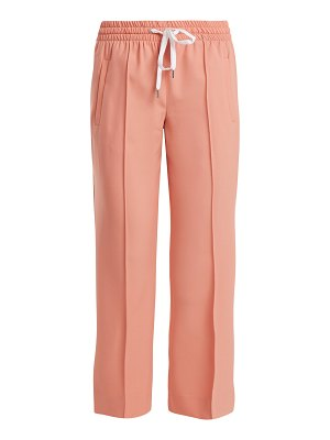 Miu Miu Mid Rise Wool Blend Cropped Trousers