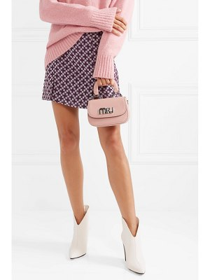 Miu Miu mini textured-leather shoulder bag