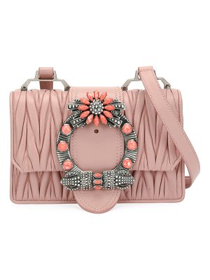 Miu Miu Miu Lady Matelassé Medium Shoulder Bag