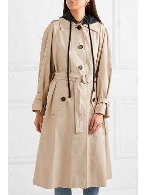 Miu Miu oversized cotton-poplin trench coat