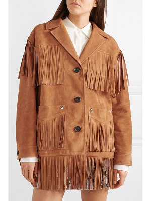 Miu Miu oversized fringed suede jacket