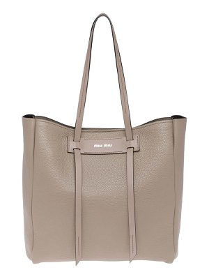 Miu Miu pebbled leather shopper