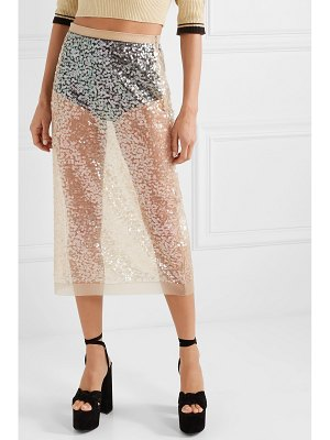Miu Miu sequined tulle midi skirt
