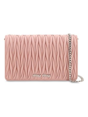 Miu Miu Small delice quilt metallic leather bag