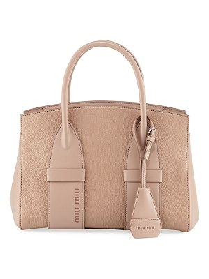 Miu Miu Small Madras Calf Tote Bag
