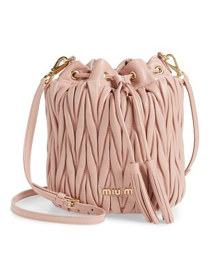 Miu Miu small matelasse leather bucket bag