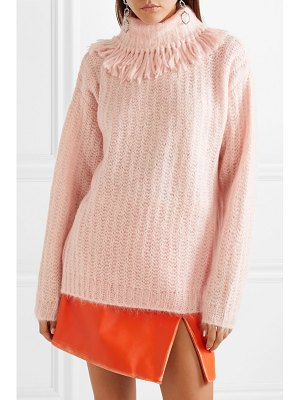 Miu Miu tasseled mohair-blend turtleneck sweater
