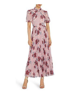ML Monique Lhuillier Bridesmaids floral midi cocktail dress
