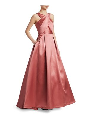 ML Monique Lhuillier Bridesmaids halter ball gown