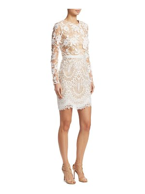 ML Monique Lhuillier Bridesmaids lace cocktail dress