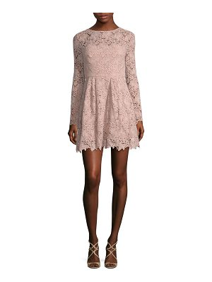 ML Monique Lhuillier Bridesmaids lace scoop back dress