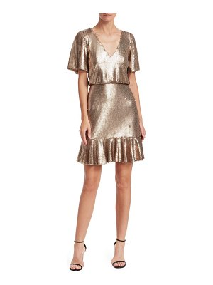 ML Monique Lhuillier Bridesmaids sequin popover dress