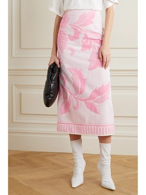 MM6 MAISON MARGIELA cotton-terry jacquard midi skirt