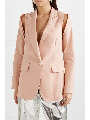 MM6 MAISON MARGIELA cutout cotton-blend jacket