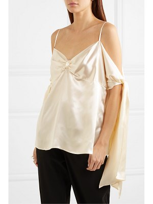 MM6 MAISON MARGIELA draped satin top