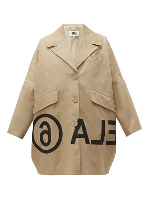 MM6 MAISON MARGIELA logo print oversized cotton twill jacket