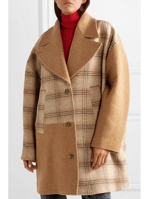 MM6 MAISON MARGIELA oversized patchwork checked wool coat