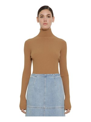 MM6 MAISON MARGIELA Viscose rib knit sweater