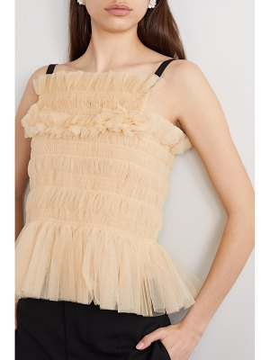 MOLLY GODDARD betsey shirred tulle top