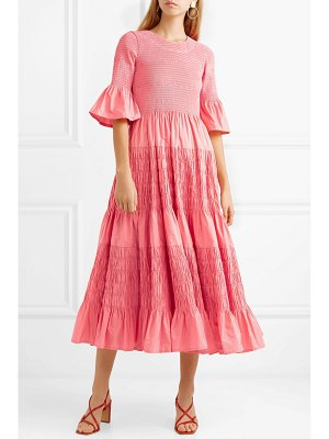 MOLLY GODDARD shaan shirred taffeta dress
