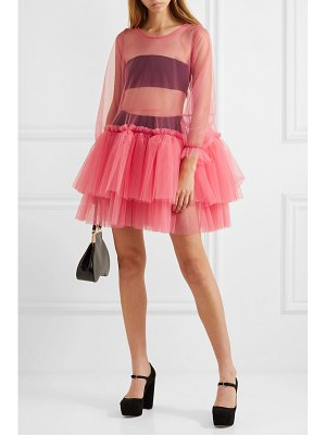 MOLLY GODDARD tiered tulle mini dress