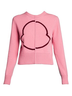 Moncler bell logo cropped sweater
