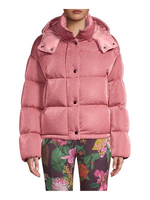 Moncler caille lurex puffer jacket