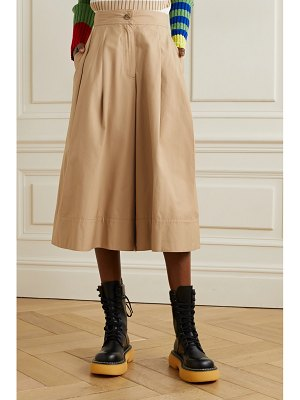 Moncler Genius 1 jw anderson pleated cotton-twill culottes