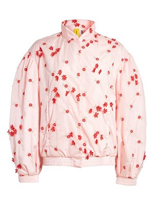 Moncler Genius x 4 simone rocha floral embellished down bomber jacket