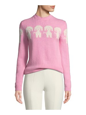 Moncler Grenoble Long-Sleeve Dog-Intarsia Pullover Sweater