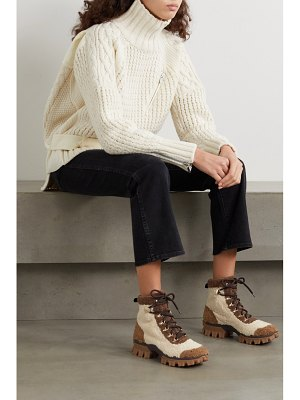Moncler helis logo-print shearling ankle boots