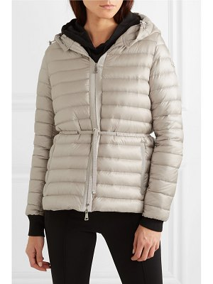 Moncler hooded quilted shell down jacket