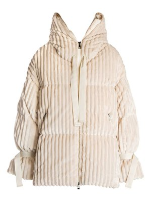 Moncler loire ribbed puffer coat