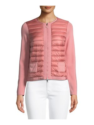 MONCLER Maglia Quilted Zip-Front Jacket