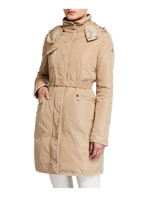 Moncler Mauve Removable-Belt Rain Coat