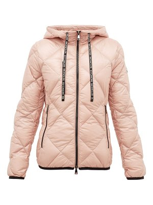 Moncler olux diamond-quilted nylon hooded jacket