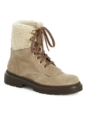 Moncler patty scarpa genuine shearling cuff boot
