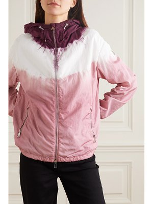 Moncler tie-dyed hooded nylon jacket