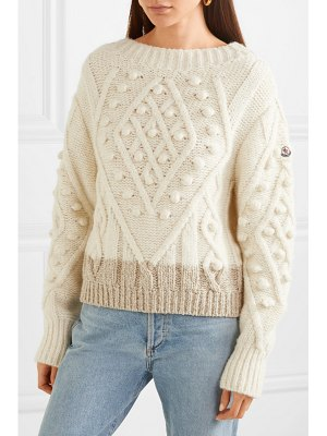 Moncler two-tone cable-knit alpaca-blend sweater
