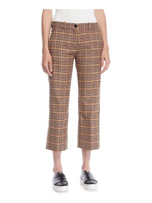 Moncler Wool-Blend Check Ankle Pants