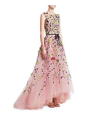 Monique Lhuillier Bridesmaids embellished floral tulle ball gown