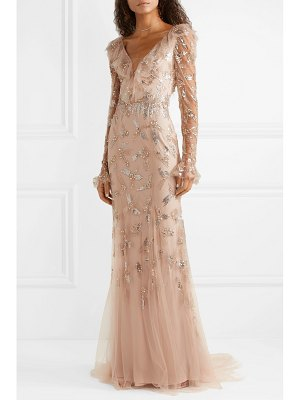 Monique Lhuillier Bridesmaids embellished tulle gown