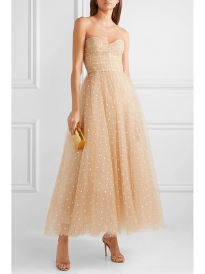 Monique Lhuillier Bridesmaids embroidered tulle gown