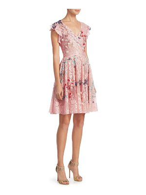 MONIQUE LHUILLIER BRIDESMAIDS Floral-Print A-Line Dress