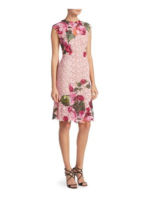 MONIQUE LHUILLIER BRIDESMAIDS Floral Print Dress