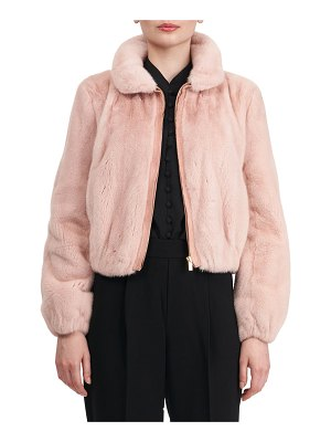 Monique Lhuillier Bridesmaids Mink Fur Zip Jacket