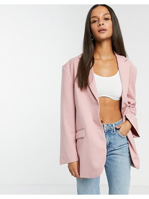 Monki grace blazer in pink