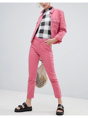 Monki kimomo jeans in pink two-piece