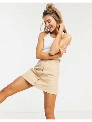 Monki mary denim skirt in beige