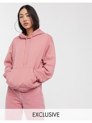 Monki oda be good hoodie in pink